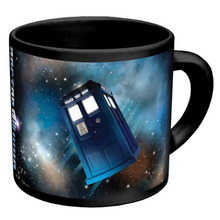 TARDIS Doctor Dr.Who Heat Reveal Mug Color Change Tea Coffee Cup Sensitive Ceramic Chameleon Magical Mugs 360 ml Novelty Gifts(China)