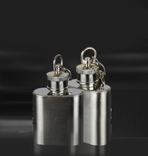 5 pcs Portable 1 oz Mini Stainless Steel Hip Flask Alcohol Flagon with Key chain Flask Flagon Whiskey Wine Pot Drinkware Gift(China)
