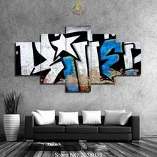 3-4-5 Pieces Graffiti Pictures Wall Art HD Painting Pictures For Living Room Printed Canvas Wall Decoration for Wall Art(China)