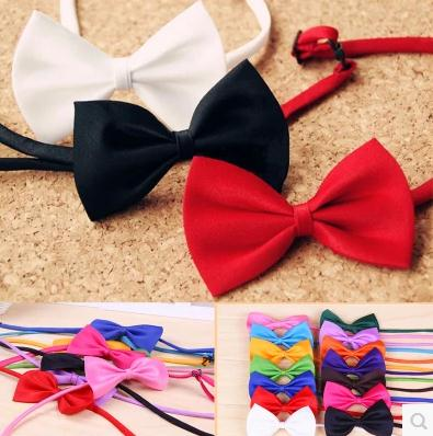Pet Bowties 50 pcs/lot Mixed colors Bright Colors Genteel Bowknot Dog Neck Tie Pet Ties Pet Grooming Products(China)
