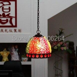 Bohemian Crystal Ceiling light Wrought Iron K9 Crystal Single Gead Droplight<br><br>Aliexpress