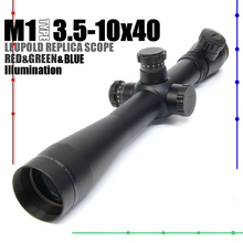 LEUPOLD M1 type 3.5-10x40 illuminated Red&Green&Blue Mil-Dot Side Wheel Rifle Scope FREE SHIPPING