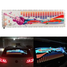 NEW 90x25cm Flash Music Rhythm LED Light Lamp Sound Activated Equalizer Car Sticker
