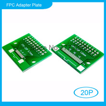 10pcs 20P FFC FPC Adapter Plate 0.5MM / 1.0MM Pitch to 2.54mm 20Pin Flat Cable Socket Adaptor Connector for PCB Board TFT LCD