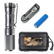 TY Rechargable Flashlight Torch 2 Colors 3 Modes CREEQ5 2000LM Led Light Portable Mini Flashlight(China)