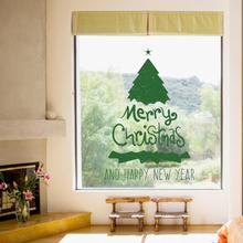 Merry Christmas Background Wall Decoration Removable Wall Stickers(China)