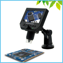 LED Illumination 600X LCD Digital Microscope 3.6MP Industrial Electron Video Camera Microscope Repair Zoom Magnifier