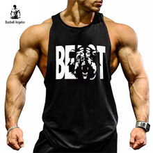 Bunbell Angelov Gyms Tank Top Men Bodybuilding Fitness Men Print Bear Singlet Muscle Crossfit Cotton Workout Clothing 2018(China)