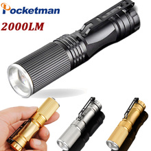 Mini LED Flashlight 2000Lumens torche lampelantern Torch light Zoomable Penlight lanternas de Waterresistant 3 Colors ZK93(China)
