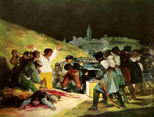 Free shipping 100% hand painted most famous artists painting reproduction goya oil painting The-Shootings-of-May-Third-1808