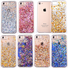 Glitter Colorful Paillette Liquid Quicksand Phone Case for iPhone 6 Case Meteor Twinkling Hard Back Cover for iphone 6S 7 Plus