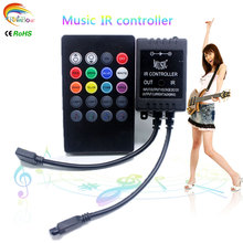 20 Keys Music Voice Sensor Controller Sound IR Remote Control Practical Home Party RGB 3528 5050 LED Strip light RGB Controllers(China)