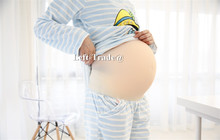 Twins 5~7 Month realistic false pregnancy  fake baby stomach silicon belly