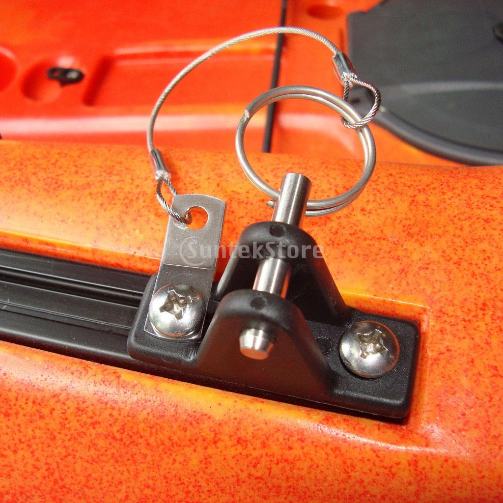 Boat canopy Deck Bracket in stainless//nylon x2