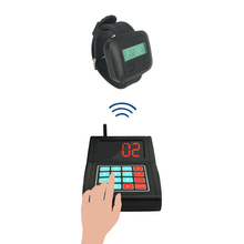 one watch pager receiver and one keypad transmitter/wireless calling systems restaurant equipment/waiter calling system