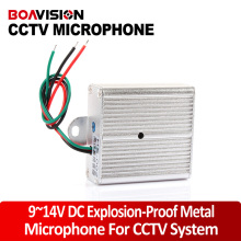 Audio pick up CCTV Microphone 9-14V DC 10-100m2 low noise CCTV Adjustable sensitive microphone For the camera