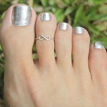 2 pcs Silver Simple Knot Open Adjustable Toe Ring for Women Creative Foot Finger Rings Wholesale Female Charm All-match Jewelry
