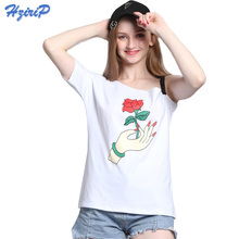 Hzirip Sexy Tshirt 2017 Summer Tops Short Sleeve Off Shoulder Plus Size Casual T shirt Women Camisa De T Das Mulheres 22 Colors(China)