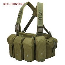 Carrier Vest Magazine-Pouch Chest-Rig Military Airsoft Molle Outdoor Simple
