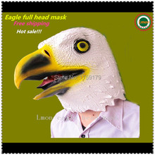 Hot sale Beige Creepy eagle Mask Head for Halloween Party Decorations Costume Theater Prop Novelty Latex Rubber Perfect Looking