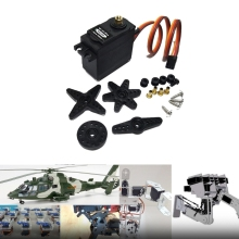 Buy MG09R High Torque 180/360 Degrees Metal Gear RC Servo Motor Bearing Helicopter Car Boat 13KG-m15 for $7.13 in AliExpress store