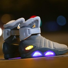 1a1854d63 Cosplay Boots Back To The Future Led Light Shoes Air Mag Style Property Usa  Fashion High