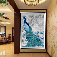 Hot 1Pc DIY Resin Diamond Embroidery Painting Peacock Pictures Christmas Gifts Picture Home Decor Needle Sewing Arts Crafts 2017