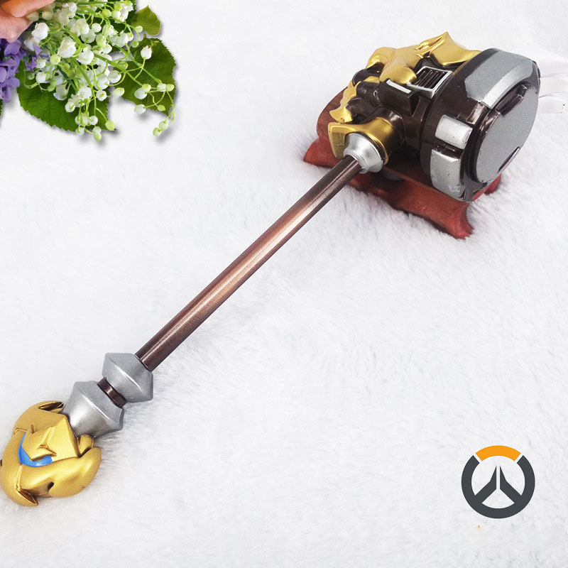 The new hot 2017 OW The hammer of the Reinhardt Wilhelm 20cm zinc alloy model A favorite of gamers<br><br>Aliexpress