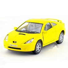 1:34 12.5cm Kinsmart Model Car Toy, Alloy & ABS Celica Cars, Simulation Vehicle Models, Pull Back, Toys For Children, Juguetes(China)