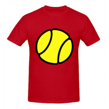 RTTMALL 100% Cotton yellow tennis Ball Casual Mens T shirts Cheap O Neck Sport Game Player New Designer Camisa De Basquete Tees(China)