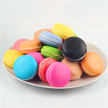 2017 Funny 1pc Simulation Macaron Food Squishy Super Slow Rising Kid Toy Decompression Toys stress ball Smash It