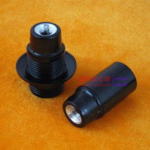 5PCS E14 lamp black Bakelite lamp whole tooth bare self-locking small screw lampholder lighting accessories diy