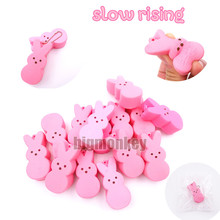 Big monkey NEW 40pcs/Lot, 5.5CM PU corful Kawaii Mini Lovely expression of Pink Rabbit  Squishy Cell Phone Charm