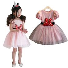 Baby Girl Dress Fancy Minnie Dress Up Mouse Pattern Kids Party Dresses for Girl Children Clothing Toddler Cosplay Minnie Costume