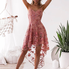 Buy lace sleeveless dress  women Elegant Wedding Party Sexy Night Club Halter Neck Sleeveless Bandage Bodycon Dress Short