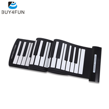 High Quality Portable 61 Keys USB MIDI Electronic Keyboard Piano Flexible Roll-Up Piano Hand Roll Piano