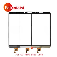 "Buy 10Pcs/lot High 5.5"" LG G3 D850 D855 D858 Touch Screen Digitizer Sensor Outer Glass Lens Panel Black White Gold for $37.50 in AliExpress store"