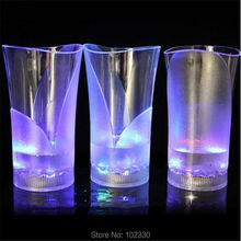370ml Lighting up with water cups LED mugs wineglass Water induction led flash cup vase Acrylic wine led cup for party S201743
