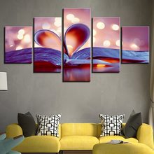 Poster Wall Modular Modern Picture 5 Panel Twin Flames Painting Frame Art Home Decor Print On Canvas For Living Room Type(China)