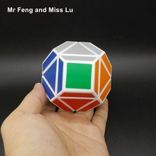 Cube Magic Pentagon PVC Sticker Dodecahedron Toy Puzzle Twist Game Mind(China)