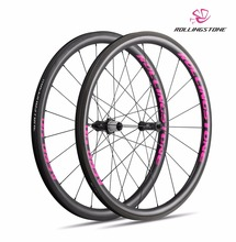 UCI Approved Rolling Stone 40Aero High TG Carbon Road wheelset 700c 40mm clincher with swisstop black prince pink color(China)