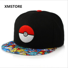 2017 Cotton Pokemon Go Baseball Cap Women Men Anime Mobile Game Elves Ball Snapback Hat Hip Hop Caps X062 - China Industry Store store