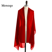 In Stock White Red Evening Party Wedding Shawls Bridal Wraps Chiffon Women's Evening Dress Stole Scarves for Evening Prom Ball(China)