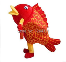 Hot 2015 Adult lovely red fish Mascot Costume fancy dress cartoon party costume adult size