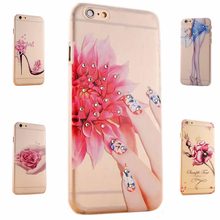 diamond case for iphone 5 5s i5 colorful fingernail luxury ultra thin transparent girl by mobile soft cover flower by tpu cases