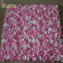 sweet new home Artificial silk flower wall wedding background lawn/pillar road lead  fake flower market decoration 10pcs/lot