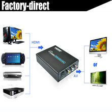 HDMI to composite AV RCA+S-video converter 2 in 1 out for PS4 Xbox DVD player to older TV with power supply(China)