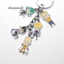 MF0889 Anime Cartoon One Punch Man Keychains Metal Figures Pendants Charms phone straps Key Chain jewelry accessories