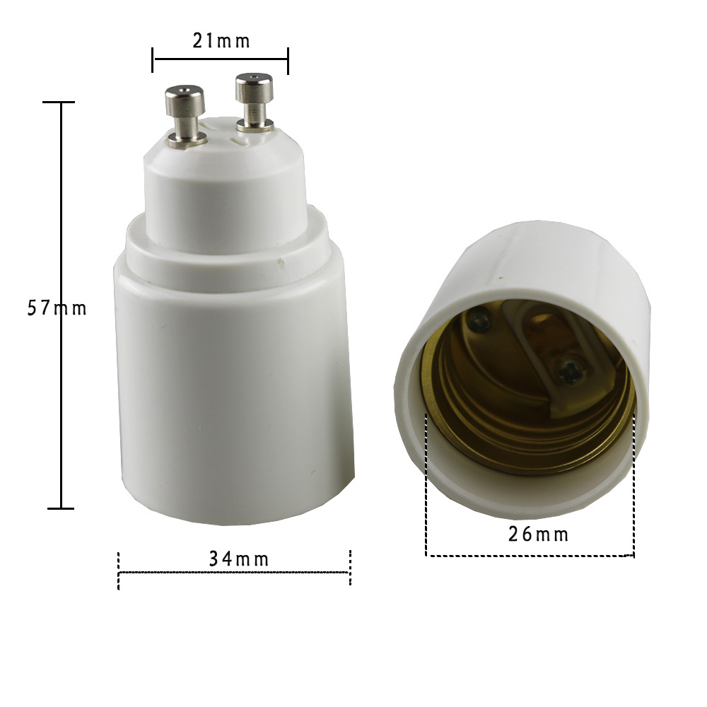 LogiLight GU10 to E27 Adaptador de enchufe color blanco