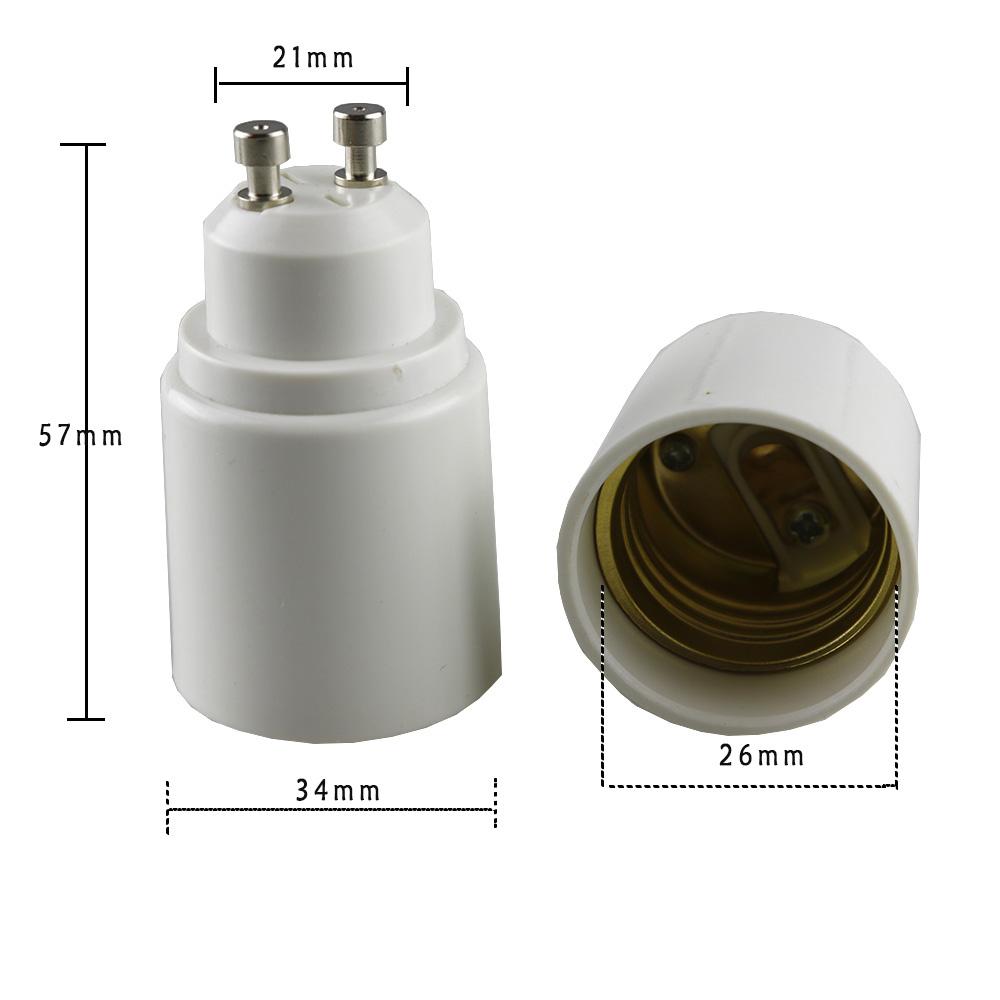 LogiLight GU10 to E27 Adaptador de enchufe color blanco